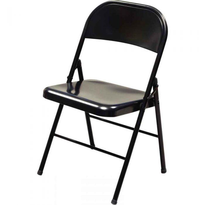 chaise pliante noire atlas