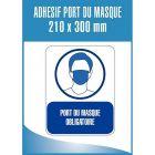 """Lot de 3 panneaux adhésifs 21x30cm """"Port du masque obligatoire"""""""