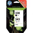 HP - SD449EE - Cartouche Noir et Couleur 338 / 343