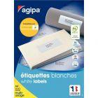 APLI AGIPA - 101309 - Etiquette blanche - 63.5X33.9 mm - Boite de 2400
