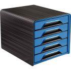 CEP - 1071110351 - Module 5 tiroirs classique noir et bleu