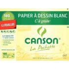 Canson - 200027102 - Papier dessin C à grain 180g 24x32cm - Pochette de 12