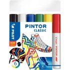 PILOT - Marqueur Pintor classic pointe moyenne - Pochette de 6