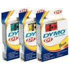 Dymo - 45017 - Ruban cassette - 12mm x 7m - Noir et Rouge