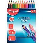 MAPED - 340102 - Crayons de couleur gros module - Pochette de 12
