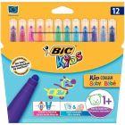 BIC - 30705 - Feutre kid couleur baby assorti - Pochette de 12