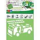 Pochoirs éducatifs en plastique sur le thème des pompiers - Paquet de 6