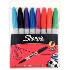 SHARPIE - Marqueurs Sharpie ogive PF coloris assortis Noir, bleu, rouge, vert, turquoise, orange, rose, violet .