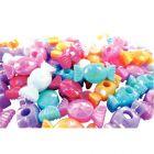 Perles opaques irisées pastel en plastique en forme de bonbon -Sachet de 60
