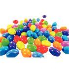 Sachet de 300 perles forme olive. Perles en plastique opaques fluorescentes