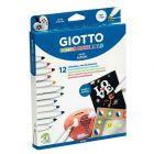 OMYACOLOR - 4534 00 - Etui de 12 feutres Giotto Decor Materials