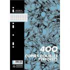 Hamelin - 400085893 - Copie double grand carreaux perforée A4 - Blanc - Sachet de 100
