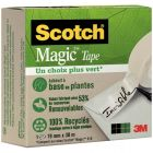 SCOTCH - Rouleau adhésif invisible scotch Magic green, dimensions : 19mm x 30m