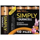 Duracell - 111882 - Pile alcaline 1.5V - LR6 AA - Blister de 10 piles