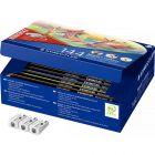 STAEDTLER - Recharge Classpack 144 crayons de couleur Noris + 3 tailles-crayons offerts