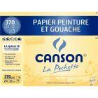 Canson - 400065406 - Papier dessin blanc naturel 370g 24x32cm - Pochette de 6