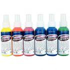 Encres pour tissus FIX'COLOR + 6 vaporisateurs - Lot de 6 flacons 100 ml