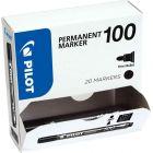 PILOT - Marqueur permanents PILOT 100 pointe ogive noir