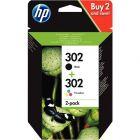 HP - X4D37AE - Cartouche Noir et Couleur (302)