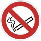 Panneau signalétique en PVC rond adhésif - Interdiction de fumer