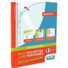 Elba - 035440 - Pochette perforée polypropylène lisse - A4 - Bloc de 60