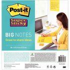 Post-it - Big note sticky format 27,9 x 27,9 cm coloris jaune - Bloc de 30 feuilles