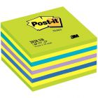 POST- IT - Bloc cube post it 76x76mm neon bleu/vert - bloc de 450 feuilles
