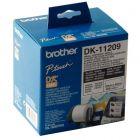 Brother - DK11209 - Rouleau de 800 etiquettes blanches 29 x 62mm
