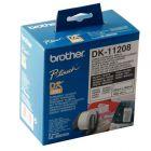 Brother - DK11208 - Rouleau de 400 etiquettes blanches 38 x 90mm