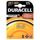 Duracell - 357 / 303 - Pile bouton 1,5V - SR44 - Blister de 2