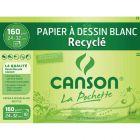 Canson - 777100 - Papier dessin recyclé 160g 24x32cm - Pochette de 10
