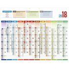 Bouchut grandremy - 000795 - Calendrier uni compact 12 mois sur 1 face 55x43cm