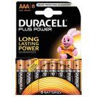 Duracell - 115804 - Pile alcaline 1.5V plus power - LR03 AAA - Blister de 8 piles