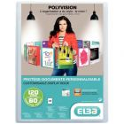 Elba - 051034-17 - Protège-document personnalisable A4 - Incolore - 120 Vues