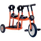 Bi-tricycle 2/4ans 2 places orange