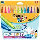 BIC - 075516 - Feutre coloriage pointe extra large - Etui de 12