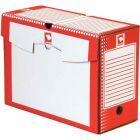 MAJUSCULE - 71064 BUSINES - Boite a archive 34x25 dos 15cm rouge - Paquet de 25