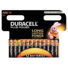 Duracell - 115842 - Pile alcaline 1.5V plus power - LR03 - Blister de 12 piles