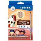 LYRA - 3931124 - Crayon de couleur gros module - etui de 12