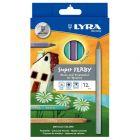LYRA - 3721122 - Crayon de couleur triangulaire metallic - boite de 12