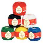 Pelotes coton 50G - Couleurs assorties lot de 6 ( jaune, rouge, vert, noir, bleu et blanc)