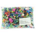 Perles mixtes en plastique, (couleurs, formes et diamètres assorties) - Sachet de 450g