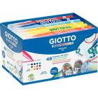 OMYACOLOR - 494703 - Feutres textile, pointe moyenne coloris assortis - schoolpack de 48