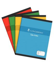 Conquerant - 100 100 589 - Cahier classique piqûre double ligne 3 mm avec interligne - 17x22 cm - 32 Pages