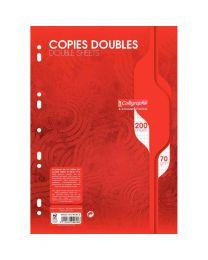 Clairefontaine - 5616 - Copie double petit carreaux perforée A4 blanc - Paquet de 50