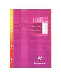 Clairefontaine - 47920 - Copie double petit carreaux perforée A4 blanc - Etui de 100