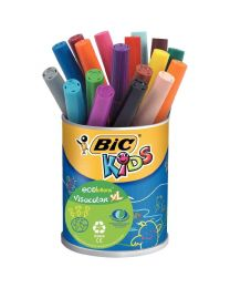 BIC - 249264 - Feutre Visacolor XL pointe ogive assorti - Pot de 18