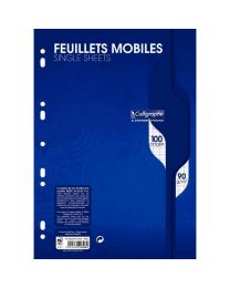 Clairefontaine - 2396 - Feuille mobile grand carreaux blanc A4 - Sachet de 50