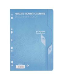 Clairefontaine - 7962 - Feuille mobile grand carreaux bleu A4 - Sachet de 50