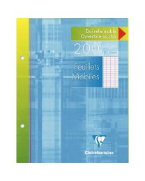 Clairefontaine - 1351 - Feuille mobile grand carreaux blanc 17x22 cm - Etui de 100